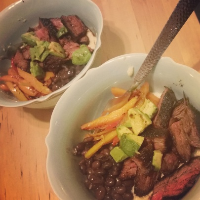 Steak Polenta Bowl